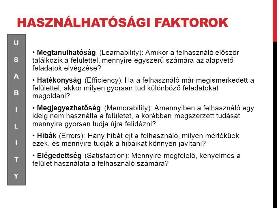 Használhatósági faktorok