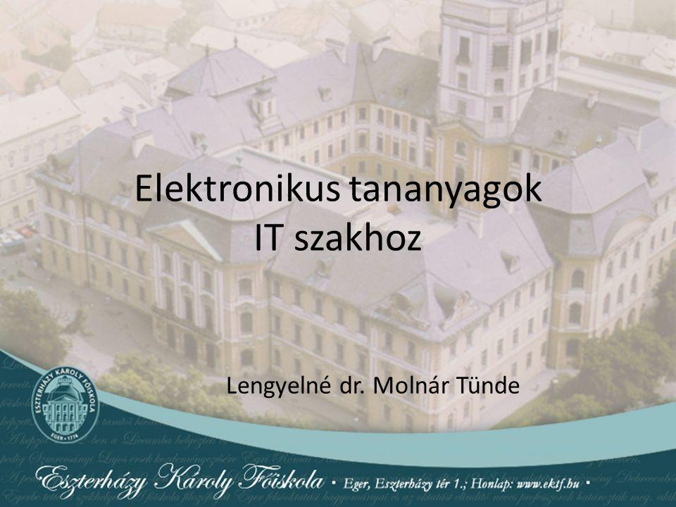 Elektronikus tananyagok IT szakhoz