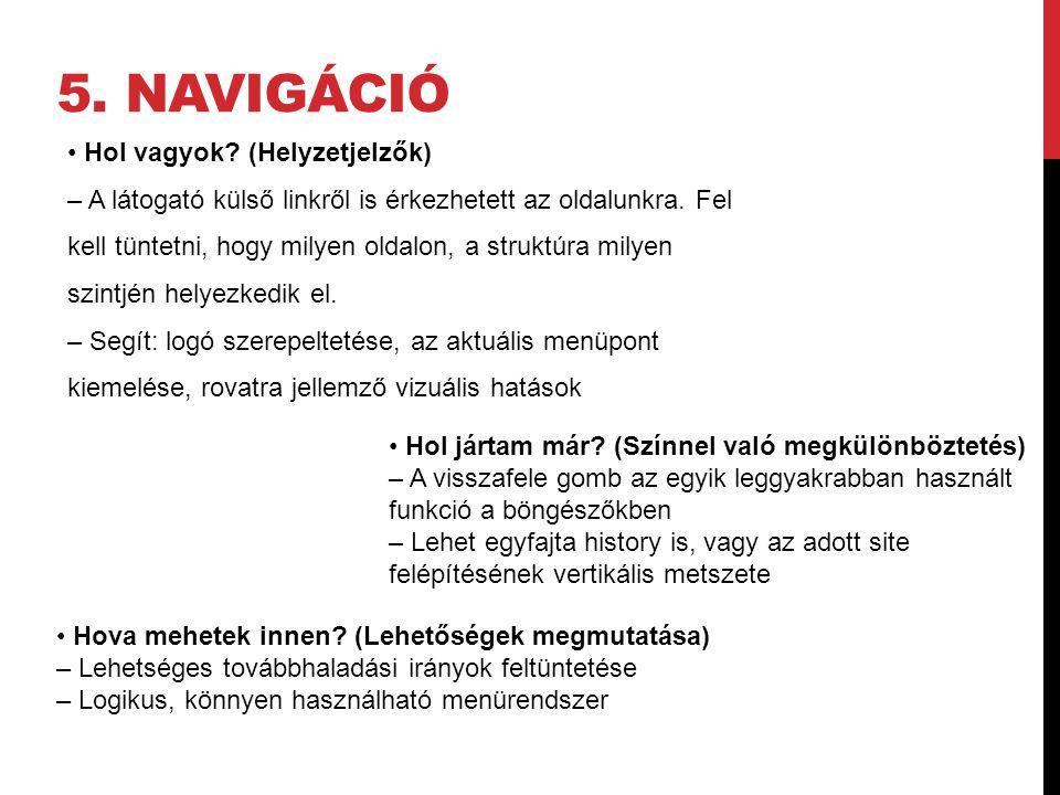5. navigáció