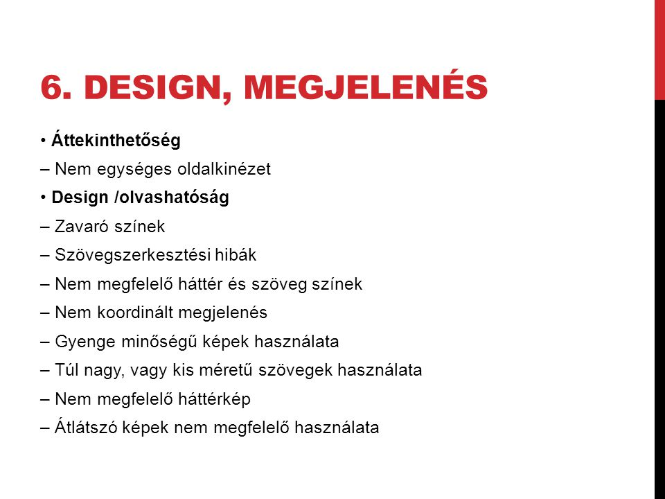 6. design, megjelenés