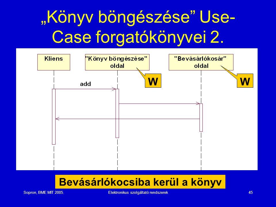 """""""Könyv böngészése Use-Case forgatókönyvei 2."""