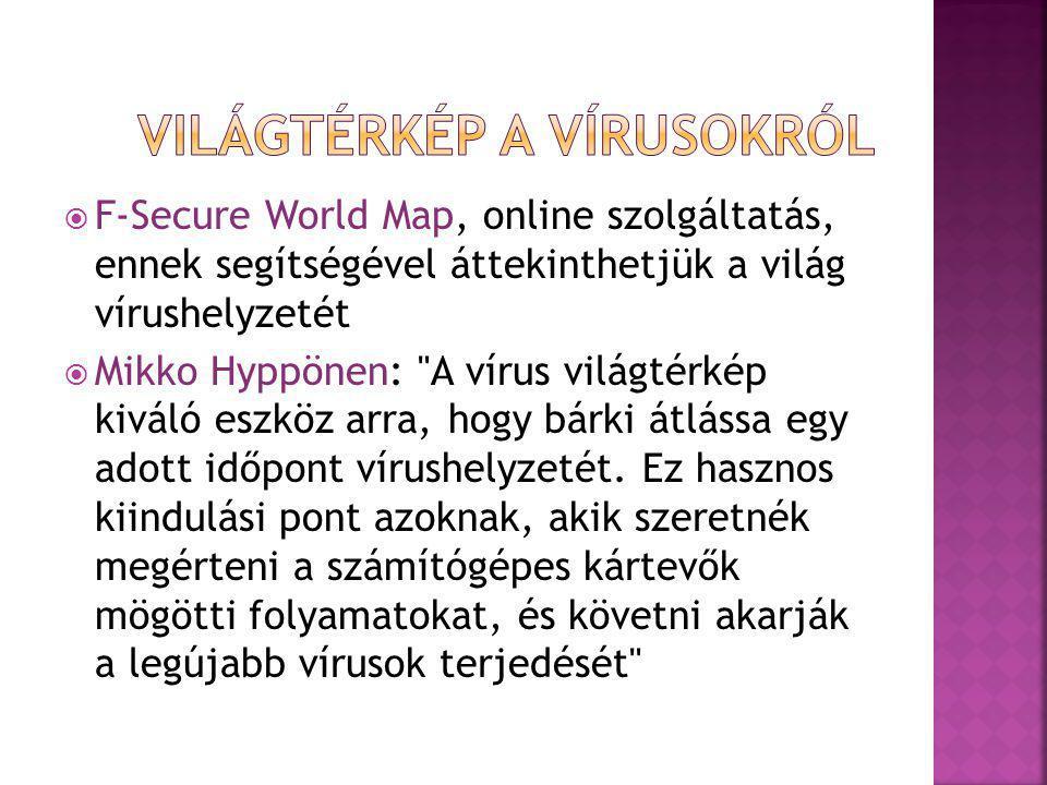 Világtérkép a vírusokról