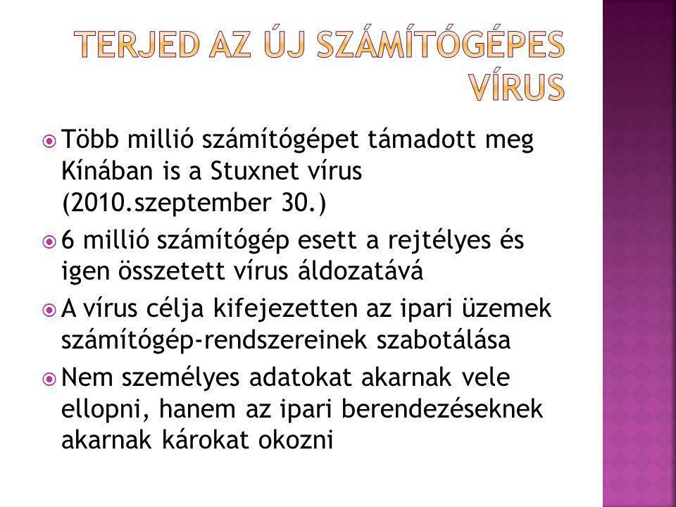 Terjed az új számítógépes vírus