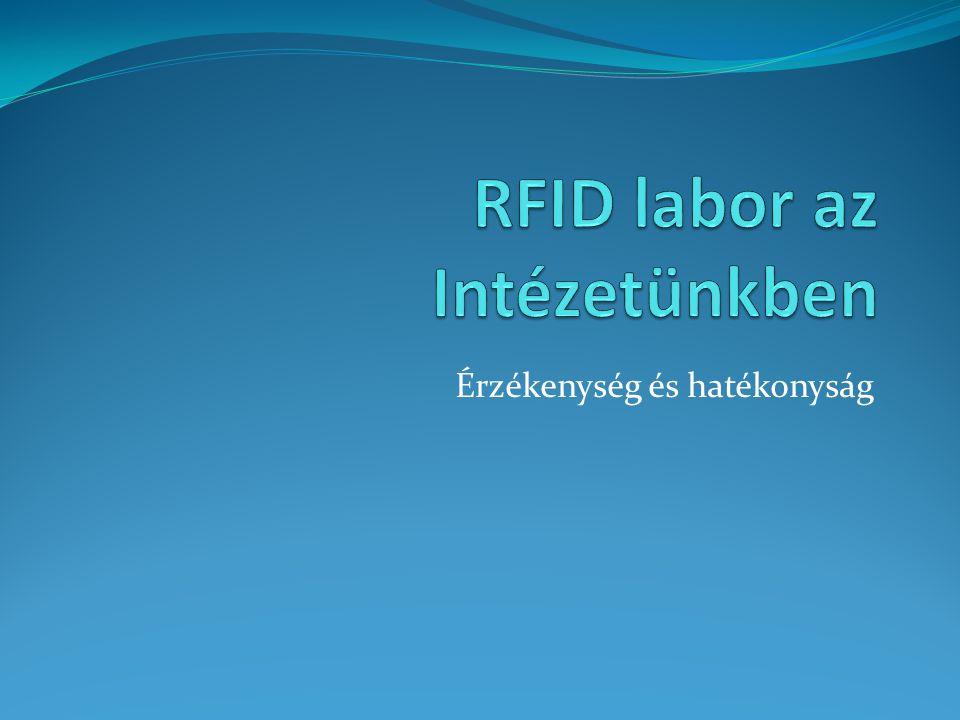 RFID labor az Intézetünkben