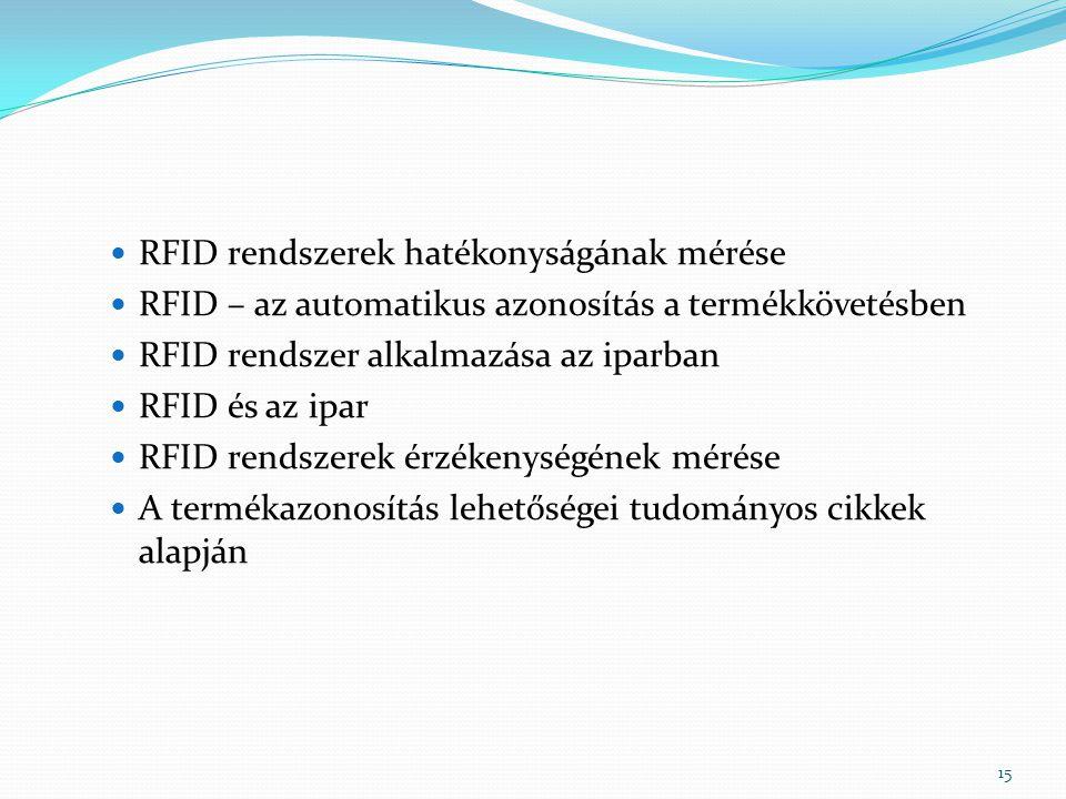 RFID rendszerek hatékonyságának mérése