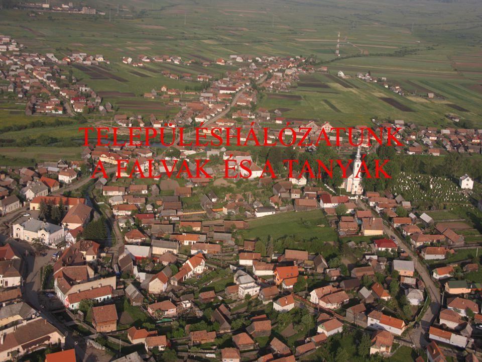 Településhálózatunk a falvak és a tanyák