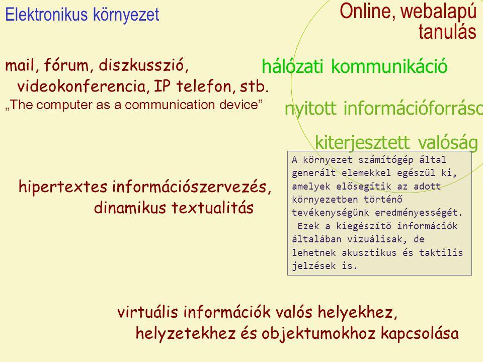 Online, webalapú tanulás