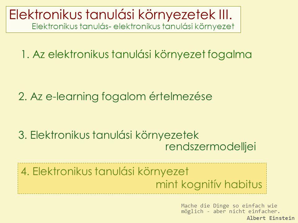 Elektronikus tanulási környezetek III.