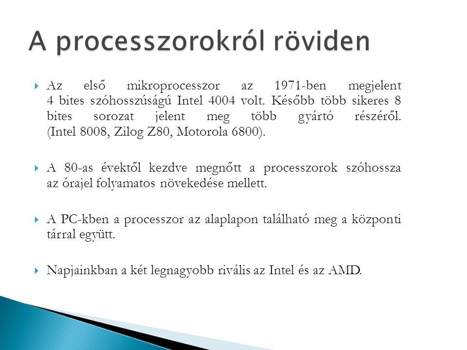 A processzorokról röviden