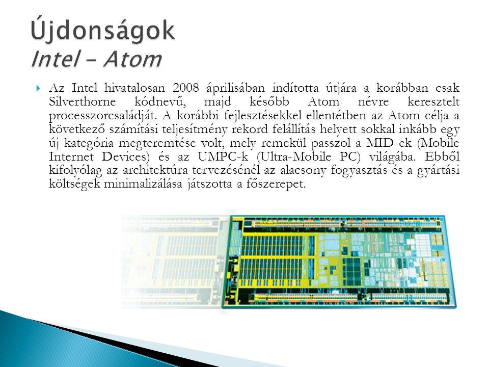 Újdonságok Intel - Atom