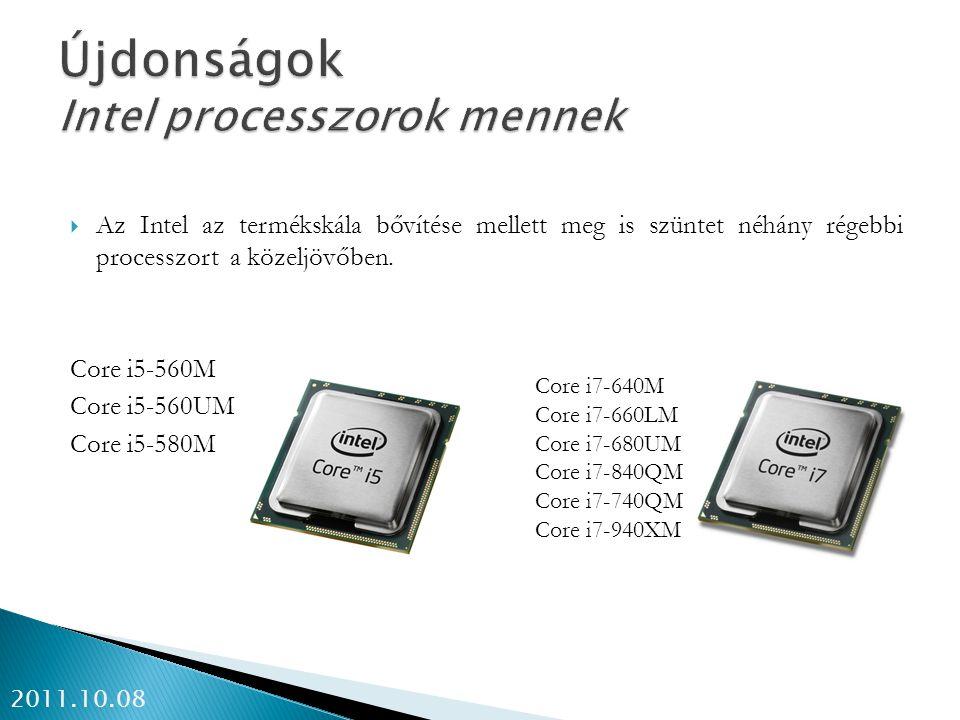 Újdonságok Intel processzorok mennek