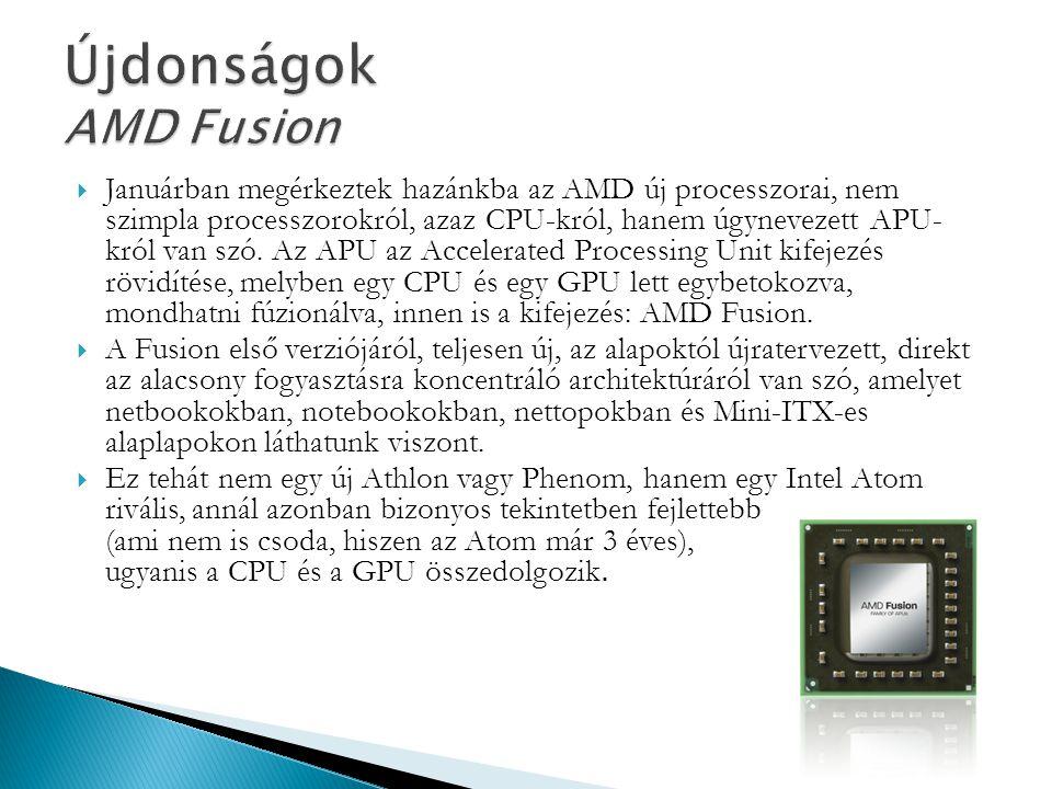 Újdonságok AMD Fusion