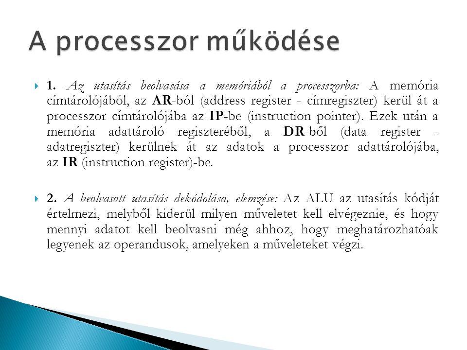 A processzor működése