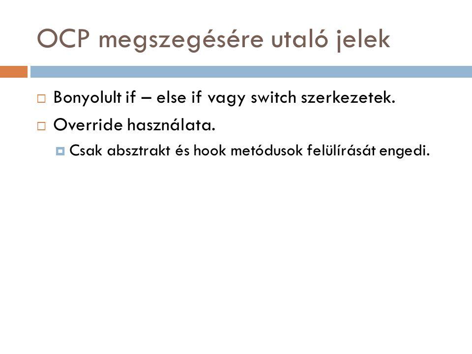 OCP megszegésére utaló jelek