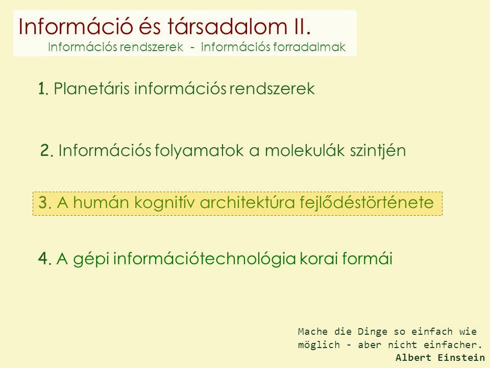Információ és társadalom II