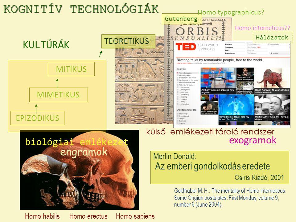 KOGNITÍV TECHNOLÓGIÁK