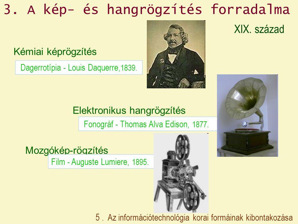 3. A kép- és hangrögzítés forradalma