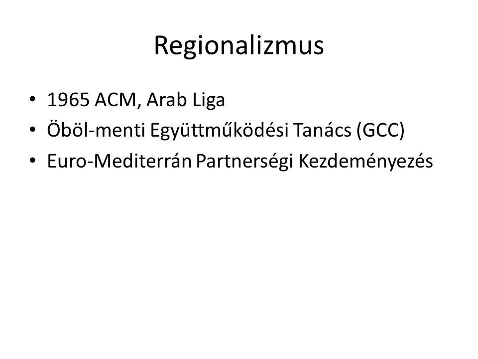 Regionalizmus 1965 ACM, Arab Liga