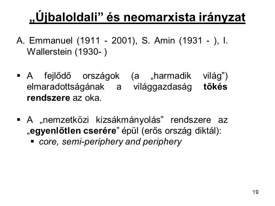 """""""Újbaloldali és neomarxista irányzat"""
