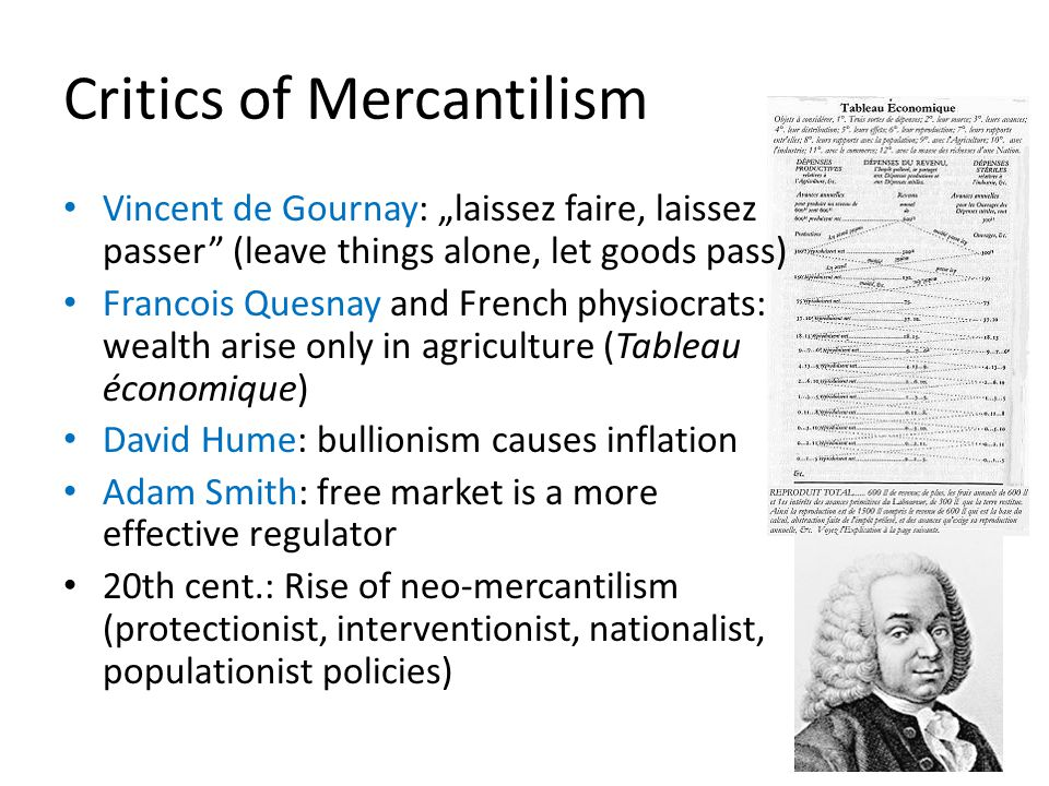 Critics of Mercantilism