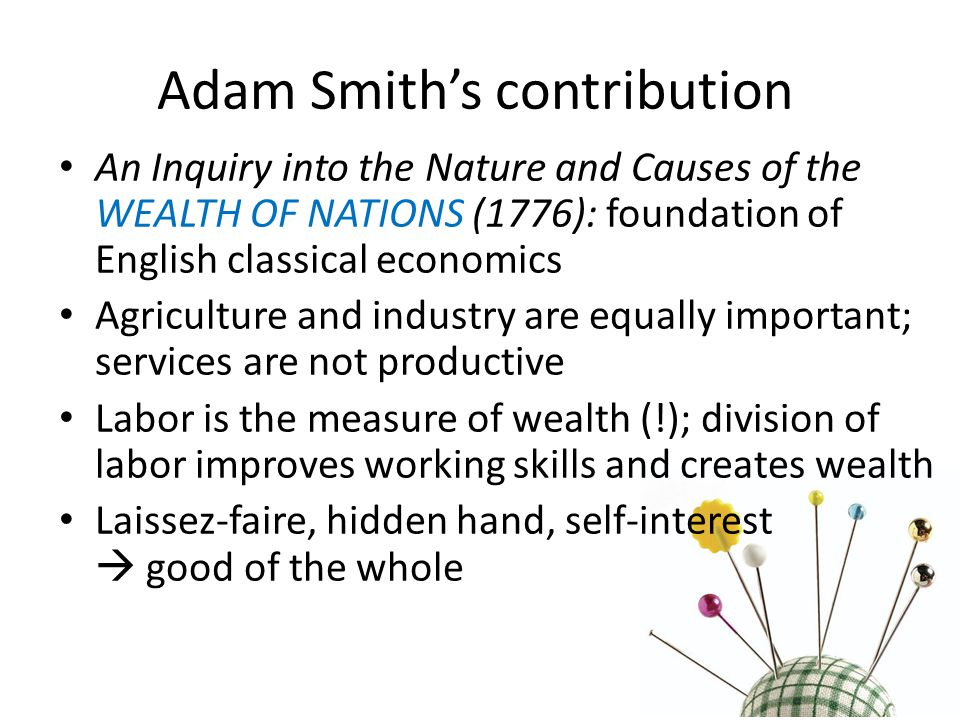 Adam Smith's contribution