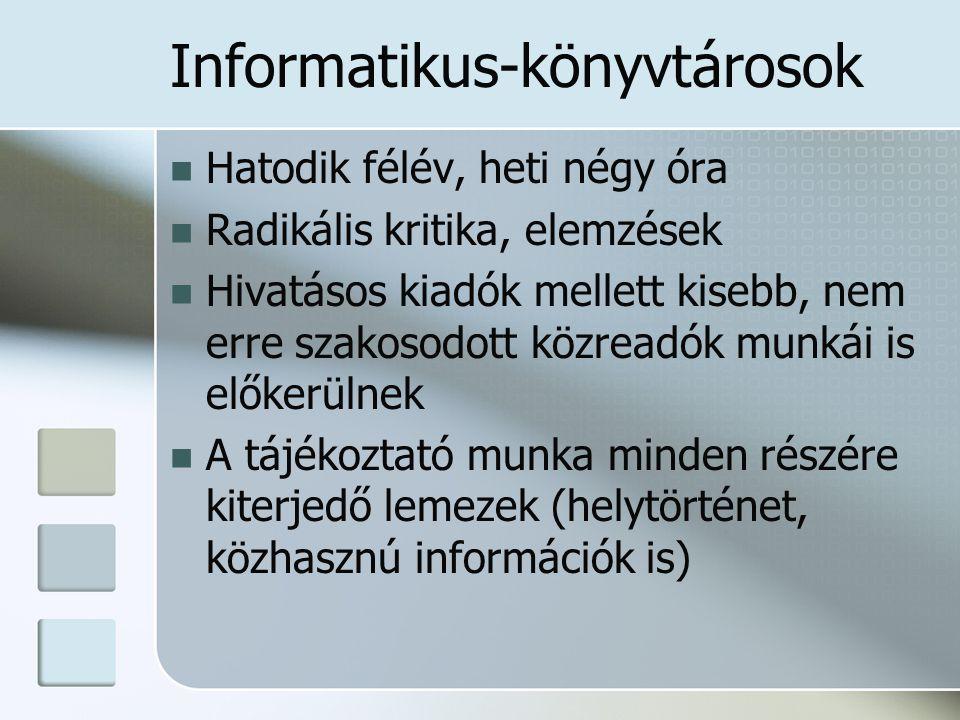 Informatikus-könyvtárosok