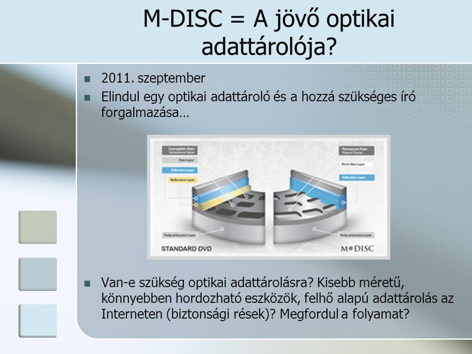 M-DISC = A jövő optikai adattárolója