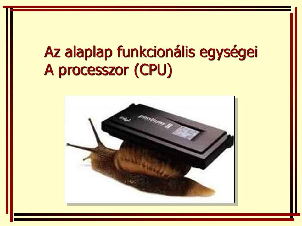 Az alaplap funkcionális egységei A processzor (CPU)