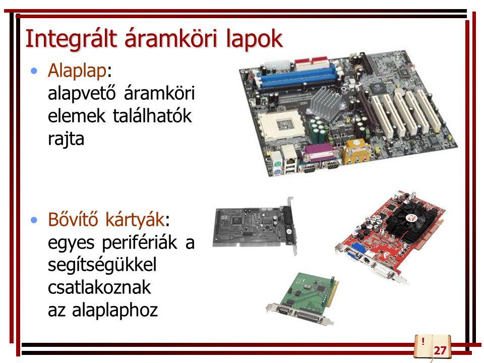 Integrált áramköri lapok