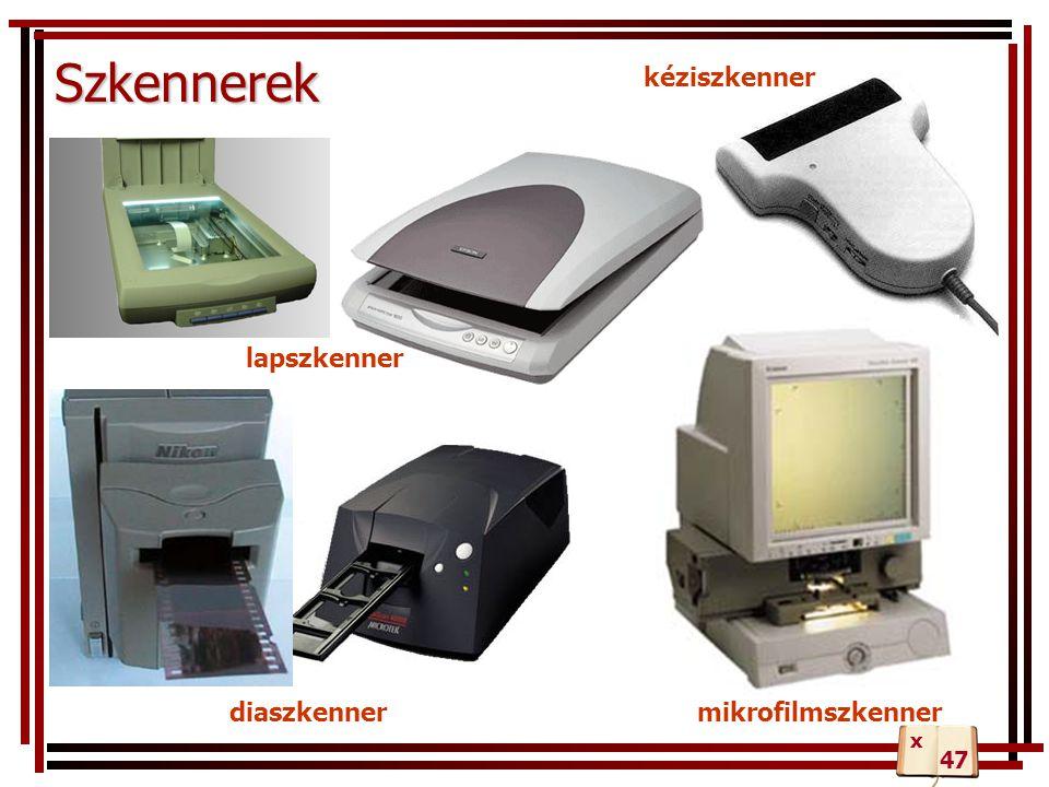 Szkennerek kéziszkenner lapszkenner diaszkenner mikrofilmszkenner x 47