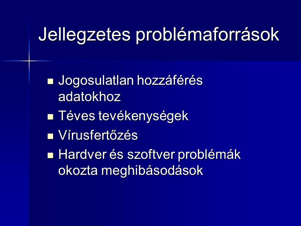 Jellegzetes problémaforrások