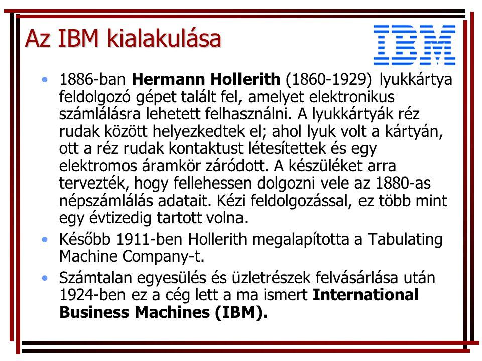 Az IBM kialakulása