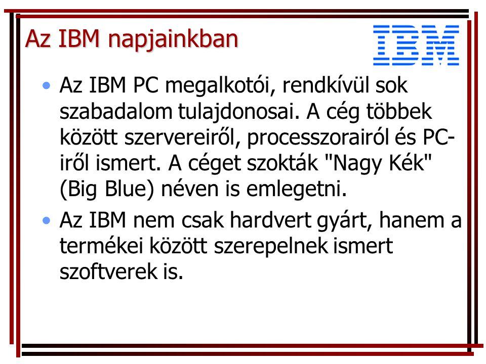 Az IBM napjainkban