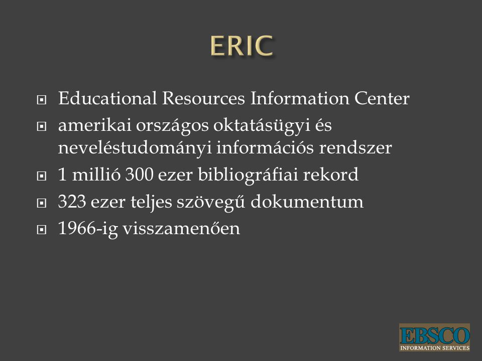 ERIC Educational Resources Information Center