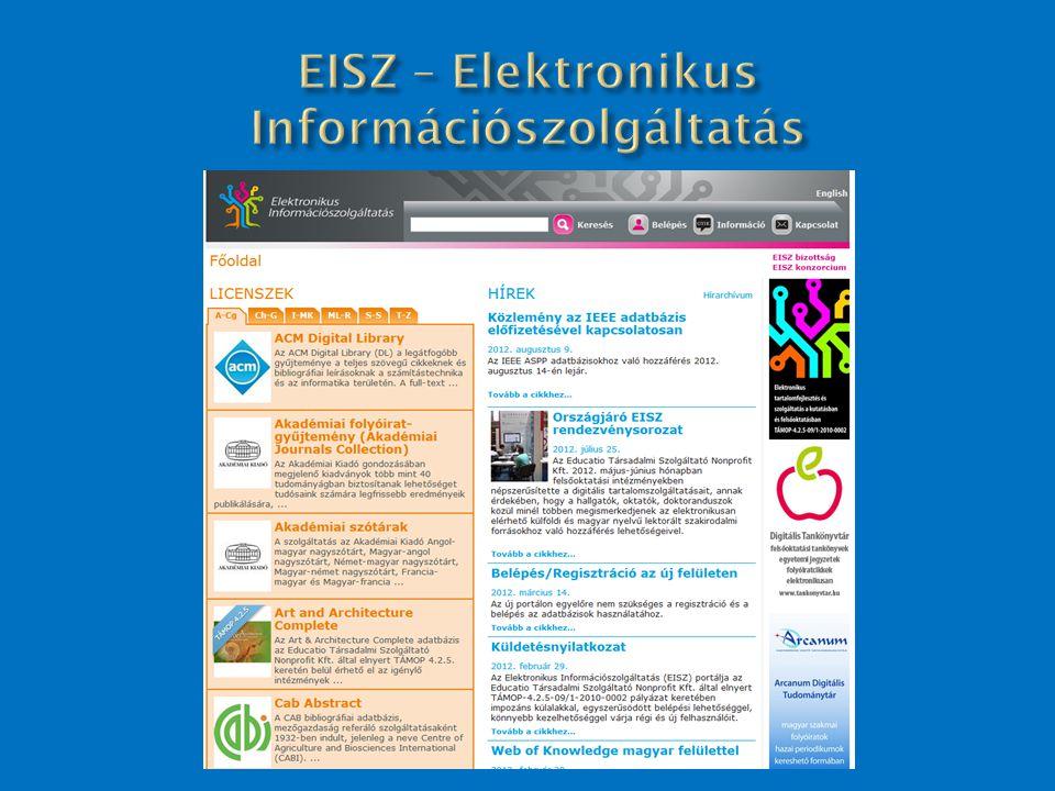 EISZ – Elektronikus Információszolgáltatás