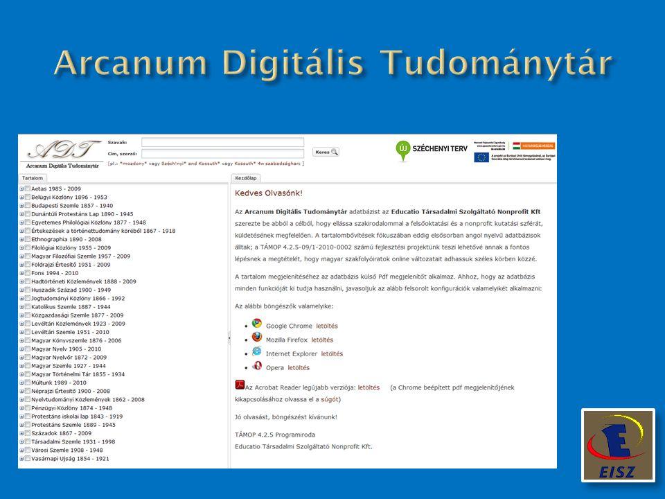 Arcanum Digitális Tudománytár