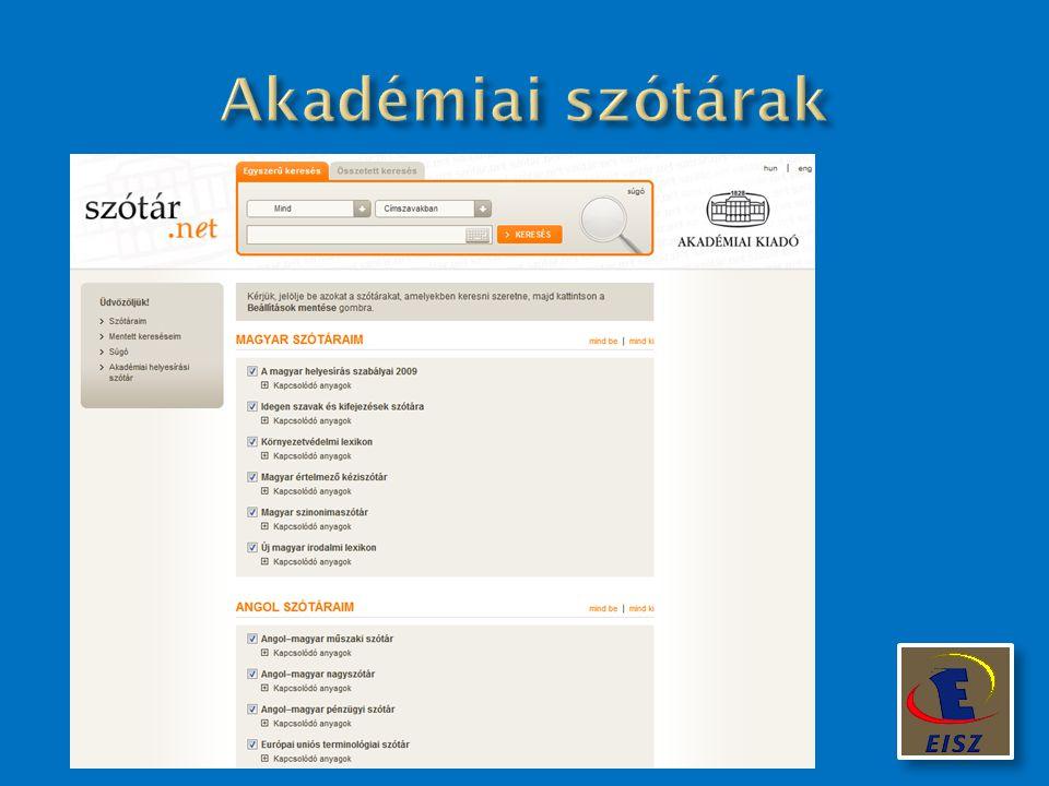 Akadémiai szótárak