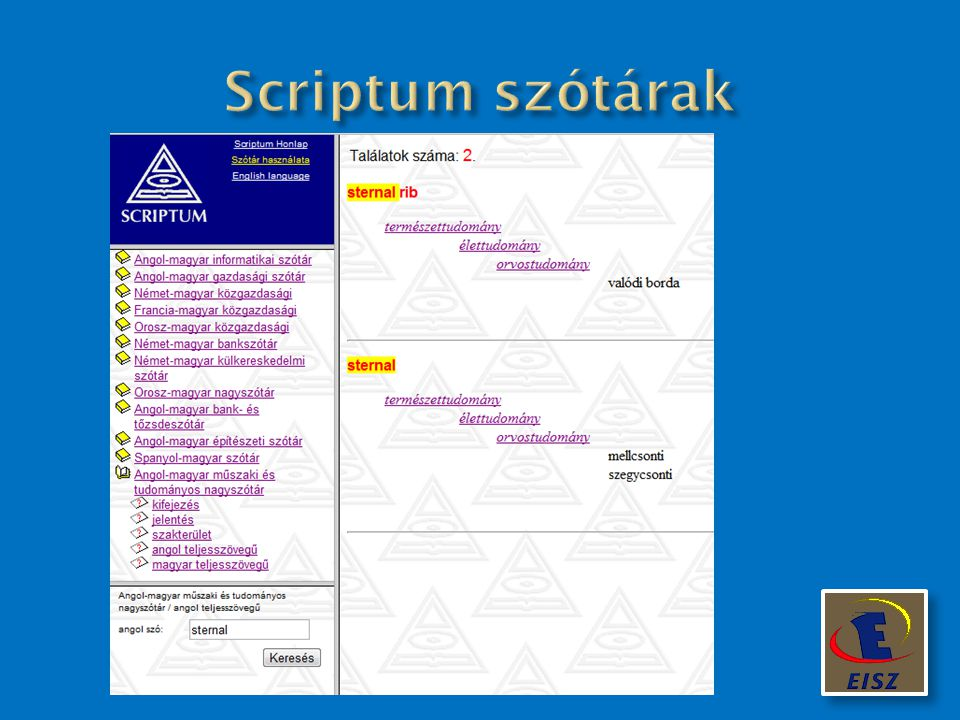 Scriptum szótárak