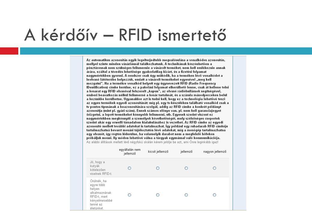 A kérdőív – RFID ismertető