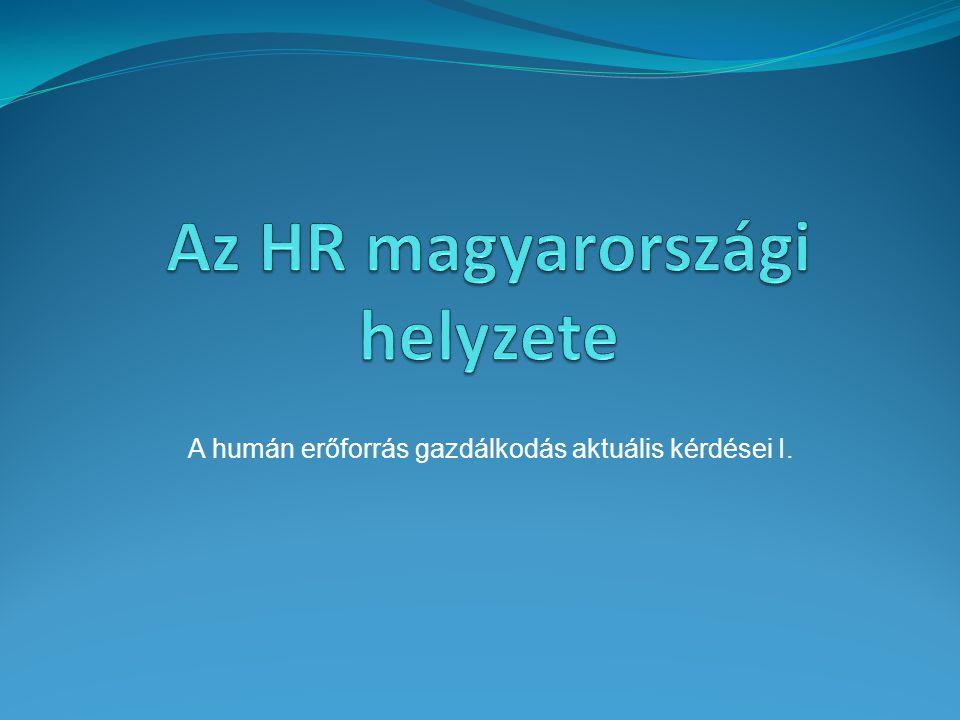 Az HR magyarországi helyzete