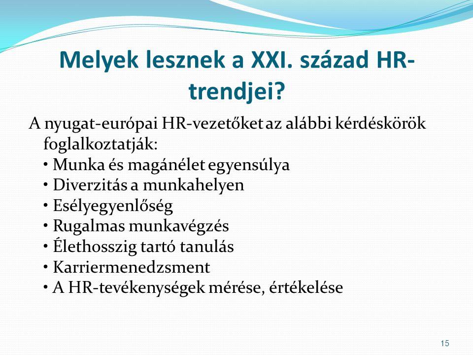 Melyek lesznek a XXI. század HR-trendjei