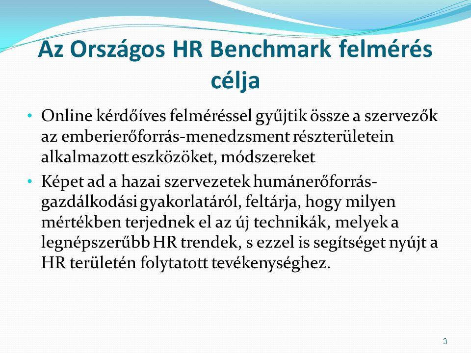 Az Országos HR Benchmark felmérés célja