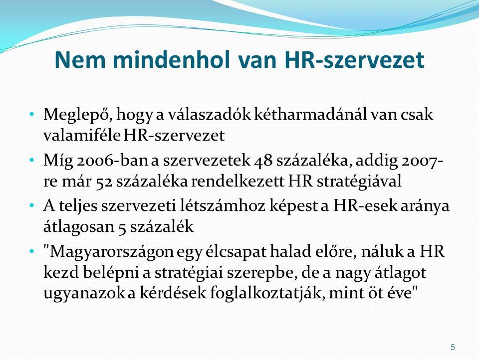 Nem mindenhol van HR-szervezet