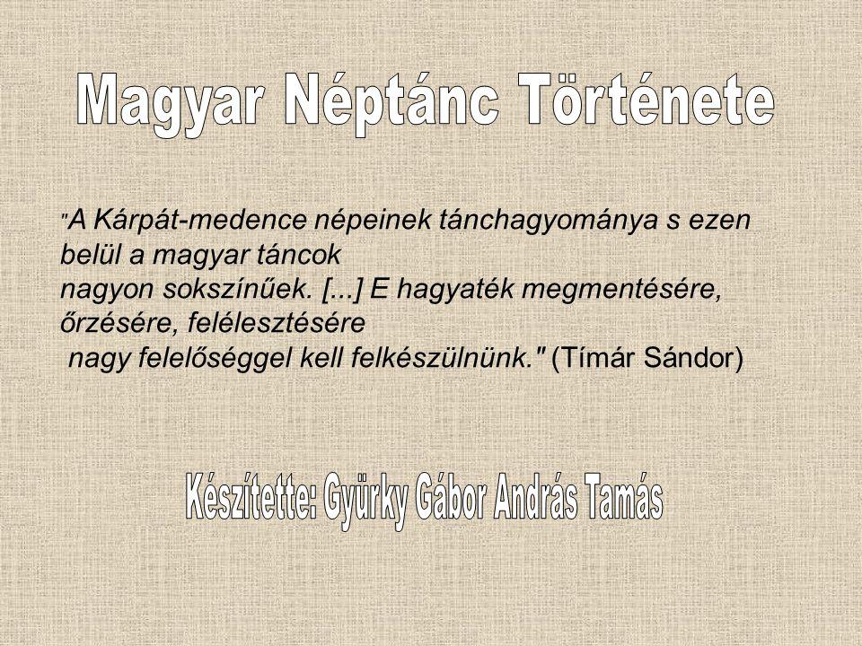 Magyar Néptánc Története