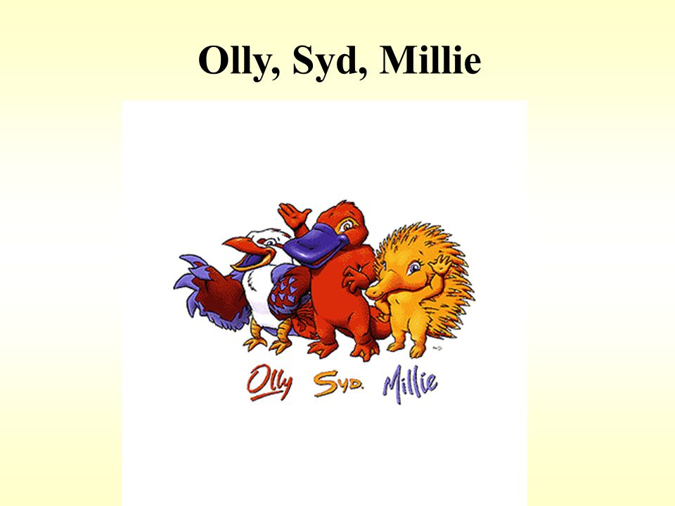 Olly, Syd, Millie 2000. Sydney – Olly, Syd, Millie