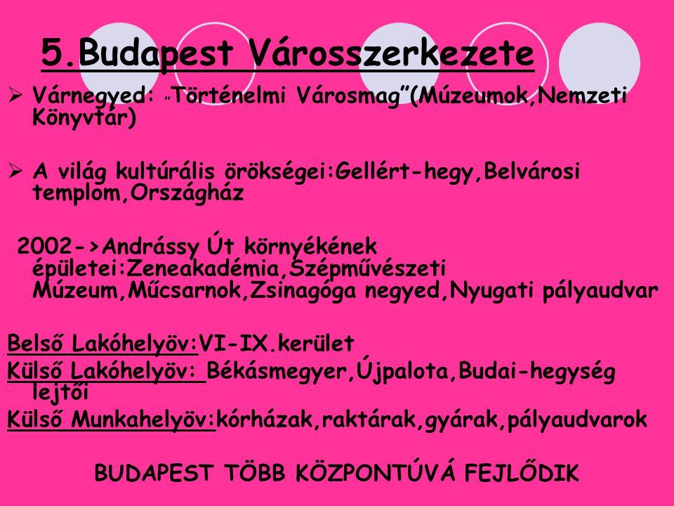 5.Budapest Városszerkezete