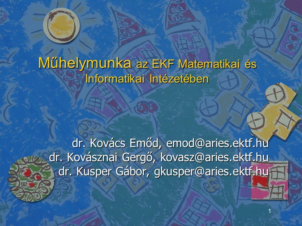 Műhelymunka az EKF Matematikai és Informatikai Intézetében