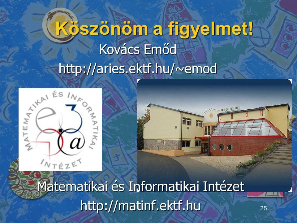 Kovács Emőd http://aries.ektf.hu/~emod