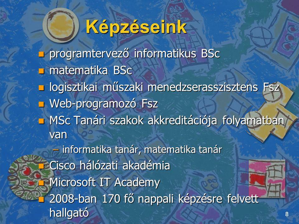 Képzéseink programtervező informatikus BSc matematika BSc