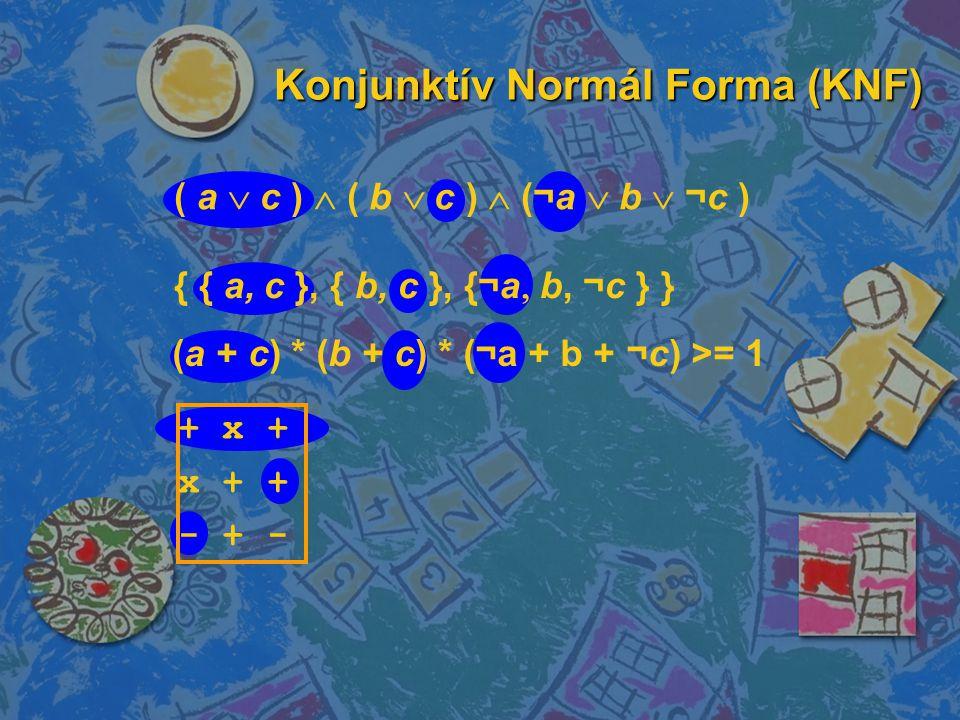 Konjunktív Normál Forma (KNF)